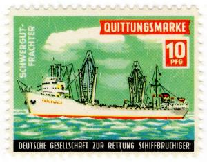 (I.B) Germany Cinderella : Lifeboat Charity Stamp 10pf (Bulk Freighter)