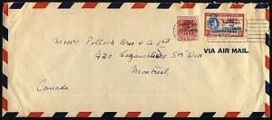 BAHAMAS 1943 airmail cover to Canada - Landfall opts 2d & 8d..............24098W