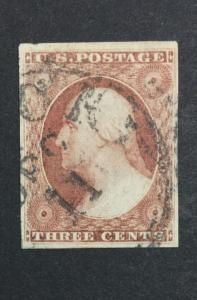 US #11 IMPERF USED XF $ LOT #7612