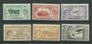 1952 Falkland Is, Set of 6 Sg 187-192 Unmounted Mint. {Box 3-56}