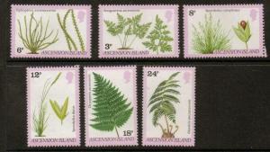 ASCENSION SG258/63 1980 FERNS & GRASSES MNH