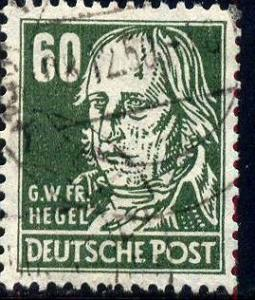 Georg Hegel, Philosopher, Germany stamp SC#10N42 used