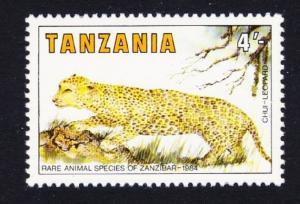 Tanzania Leopard 1v 4Sh Rare Animal Species of Zanzibar SG#421 SC#259