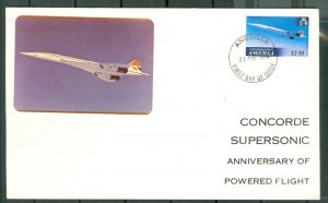 ANGUILLA CONCORDE #360 on VERY NICE FDC