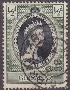 Gibraltar 131 Used 1953 Coronation Issue [CD312]