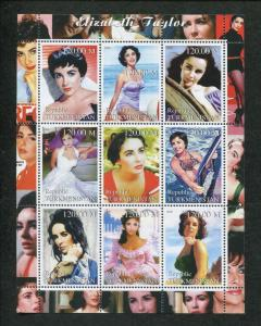 Turkmenistan Commemorative Souvenir Stamp Sheet - Actress Elizabeth Taylor
