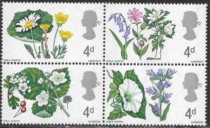 Great Britain 488p-493p MNH - Wild Flowers
