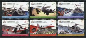 Hong Kong 2019 MNH Government Flying Service Operations 6v Set Aviation Stamps