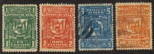 Dominican Republic - 1897 - SC 96a-99a - LH/Used - Complete set - 96a-97a LH