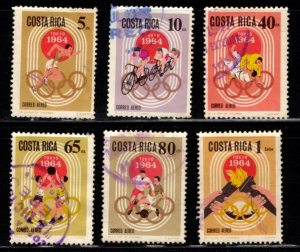 Costa Rica - #C411 - C416 Tokyo Olympic Games set/6 - Used