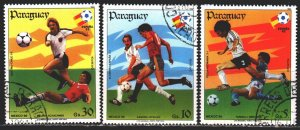 Paraguay. 1984. 3745-47. Spain-82, football. USED.