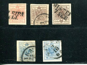 Austria  lot  Used  VF shades/cancel  - Lakeshore Philatelics