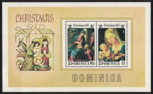 Dominica Christmas 'Virgin and Child' paintings MS SG#MS489
