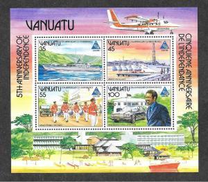 Vanuatu 400a Mint NH Souvenir Sheet Independence!