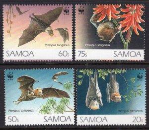 Samoa 827-830 Bats MNH VF