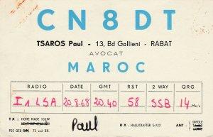 7359 Amateur Radio QSL Card  RABAT MOROCCO