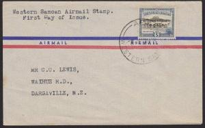 SAMOA 1949 5d new airmail rate value - FDC - Apia cds.......................5349