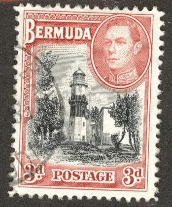 BERMUDA Scott 121 Used lighthouse stamp from 1943 set