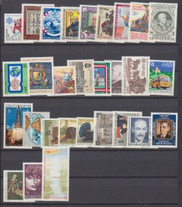 J29526,  1982 austria mnh year set #1202-1230