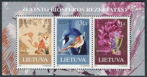 2013 Lithuania 1122/B47 Birds 6,60 €