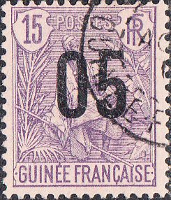 French Guinea #57 Used