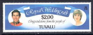 Tuvalu 162 Royal Wedding MNH VF