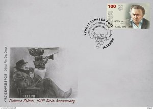 Stamps of Kyrgyzstan 2020. - 154 Federico Fellini FDC