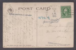 **US 20th Cent Post Card Cover, Ludlow MA, 11/6/1915 CDS, DPO4