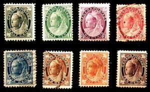 Canada #66-73 1897-98 Nice Mint & Used Set 8 items