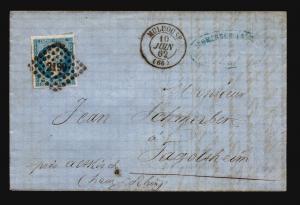 France 1863 Letter Cover / Mulhouse CDS - Z15713