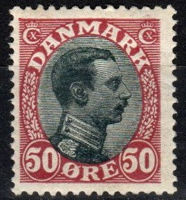 Denmark #121 F-VF Unused CV $75.00 (Z9970)