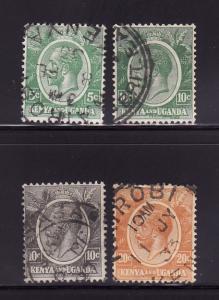 Kenya, Uganda, Tanzania 20-22, 25 U King George V