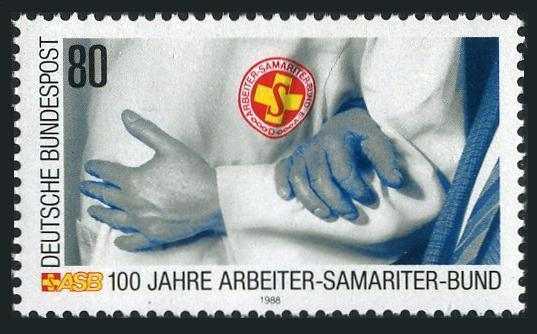 Germany 1567,MNH.Mi 1394. Samaritan Association of Workers Risque Service,1988.