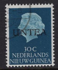 Netherlands West New Guinea UNTEA  #11 UN temporary authority 1962 cancelled 30c