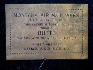 US/MONTANA - AIR MAIL WEEK COPPER CACHET