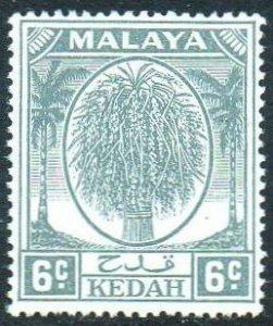 Kedah 1950 6c grey MH