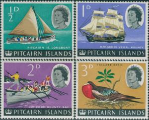 Pitcairn Islands 1964 SG36-39 Boats Bird MLH