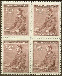 Stamp Germany Bohemia B&M Mi 087 Sc B11 Block 1942 WWII Fascism Hitler Hitler MH