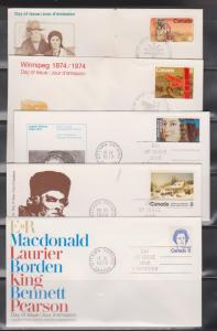 10 CANADA FDCs Assorted Cachets - Lot # 4