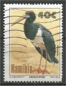 NAMIBIA, 1994, used 40c, Storks. Scott 767