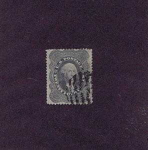 SC# 37a USED 24 CENT WASHINGTON, 1860, GRID CANCEL, 2018 PF CERT NICE