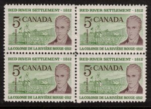 Canada - Red River Settlement 1962 SC397 Mint Block  NH