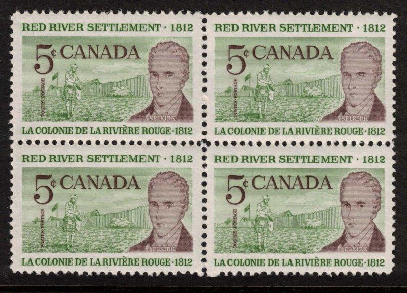 Canada - Red River Settlement 1962 SC397 Mint Block  NH