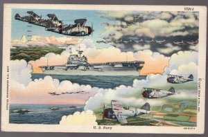 Used 1943 US Postcard US Navy. Chicago to New Westminster BC . Postage Due
