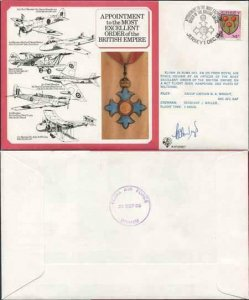 DM7b Most Excellent Order of the British Empire Signed by B.A Wright (F)
