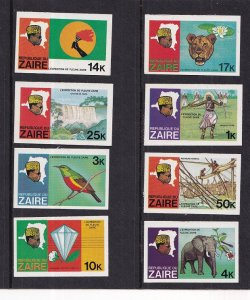 Zaire  #902-909  MNH  1979 Imperf. River expedition elephant diamond fishermen