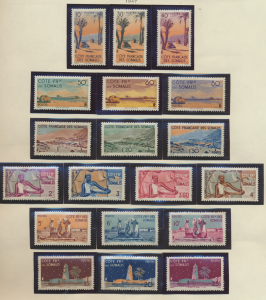 Somali Coast (Djibouti) Stamps Scott #248 To 266, Mint Hinged - Free U.S. Shi...