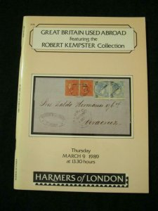HARMERS AUCTION CATALOGUE 1989 GB USED ABROAD 'KEMPSTER'