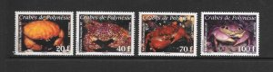 CRABS - FRENCH POLYNESIA #1042-5  MNH
