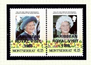 Montserrat 575 MNH 1985 issue overprinted for Royal Visit
